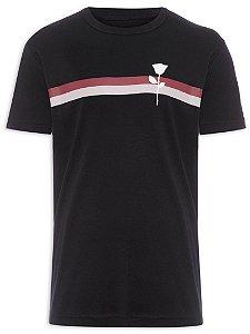 Camiseta Osklen Regular Big Shirt Stripe Rose