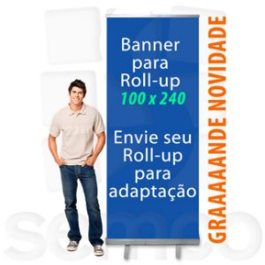 Banner para Suporte Roll Up 100x240