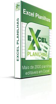 Pacotão Planilhas Editáveis em Excel
