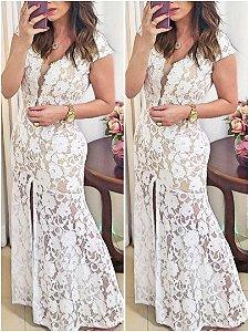 Vestido Longo de Renda - Melissa