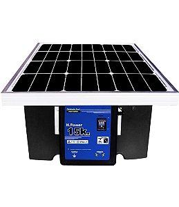 Cerca Elétrica Solar com placa 40 km - Eletrificador de Cerca com painel Solar Lp10