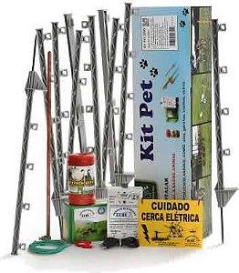 Cerca Elétrica para Caes e Gatos - Kit Completo Zebu