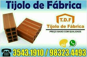 Fabrica de tijolos Goiana-Pe (81) 3543.1910 Whatsapp: 9.8822.7198