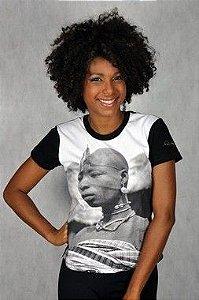 Camiseta Baby look Africana (Iaô) Preta P
