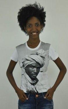 Camiseta baby look Homem de Turbante branca P