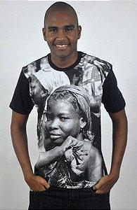 Camiseta Básica Africana Mercado de Lomé