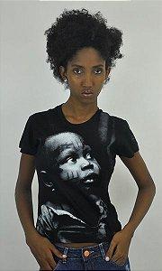 Camiseta baby look Criança Africana