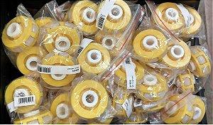 Lote com 49 rodas Omni wheel robô amarela OW002