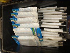Lote 36 Mini Protoboards embalagem Blister
