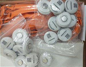 iButton / pulseira Laranja Lote com aprox. 25 conjuntos