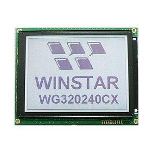 Lote com 67 pçs LCD Gráfico Winstar W320 (WG320240CX) com touch resistivo