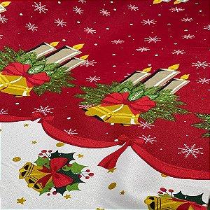 Tecido Oxford Estampado Natal 1,0 x 1,50