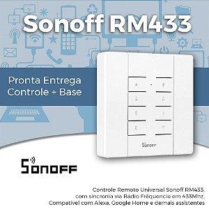 Sonoff RM433 - Controle Universal de Rádio Frequência 433MHz + Base de Suporte