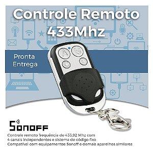Controle Remoto Universal - Rádio Frequência 433MHz - Compatível com Sonoff - 4 Canais - Não é Clonador