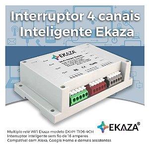 Interruptor Inteligente EKAZA de 4 Canais- Wifi - Automação Residencial - EKHY-T106-4CH