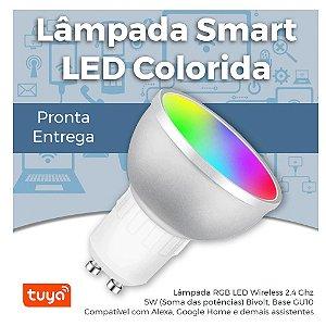 Lâmpada LED Smart Wifi RGB Base GU10 - Lâmpada Inteligente Colorida