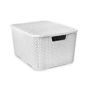 Caixa organizadora 15 litros rattan Arqplast - Branca