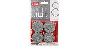 Protetor de feltro redondo d:4cm Clink