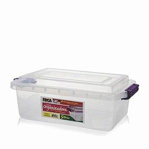 Caixa organizadora 5 litros c/ trava Erca Plast