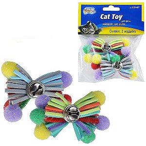 Pompom com guizo Cat toy 2 unidades - Western Pet