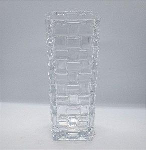 Vaso decorativo de vidro em relevo