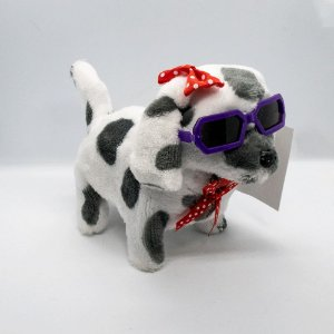 Cachorro de plástico c/ tecido á pilha
