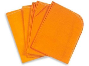 Flanela grande laranja tam: 36cm x 56cm Neves
