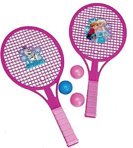 Raquete infantil kit Frozen 5 unids rosa - etitoys