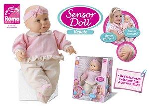 Boneca Sensor Doll repete 42cm - Roma brinquedos