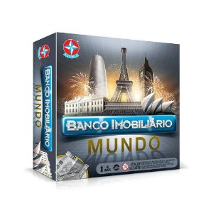 Banco imobiliário Mundo jogo de tabuleiro - Estrela