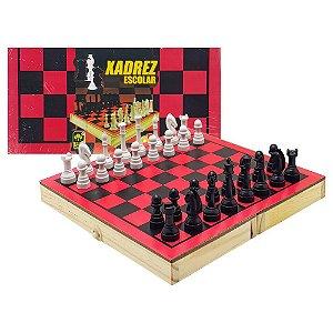 Jogo de xadrez em madeira - IOB brinquedos