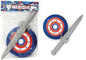 Kit capitão espada com escudo plástico - Le plastic