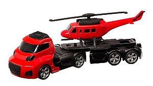 Caminhão + Helicóptero Invictus sky - Cardoso toys