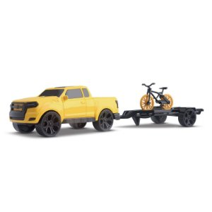 Carrinho pick-up + Bicicleta Bikerun mountain - Orange Toys