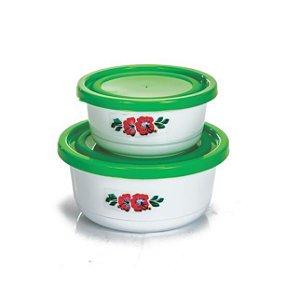 Conjunto 2 potes redondos 270ml 550ml- Erca Plast