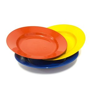 Prato de plástico p/ sobremesa - Erca Plast