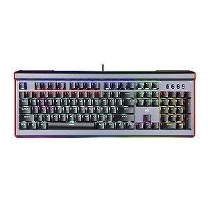 TECLADO GAMER USB MECANICO GK520 RGB PRETO