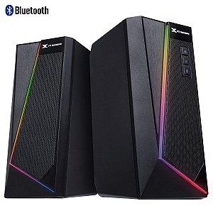 CAIXA DE SOM GAMER 2.0 BLAST RGB LED 10W COM FUNÇÃO BLUETOOTH - CXBLRGB10W