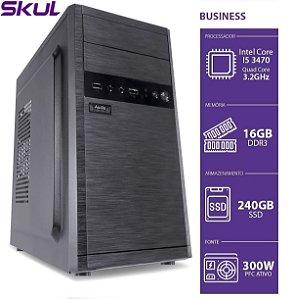 COMPUTADOR BUSINESS B500 - I5 3470 3.2GHZ 16GB DDR3 SSD 240GB HDMI/VGA FONTE 300W SEM PPB