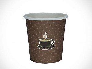 COPO PAPEL 120ml IMPRES. CAFE MARROM - PCT C/ 25 UN