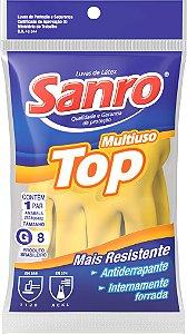 LUVA LATEX AMARELA (SANRO TOP) TAM. P
