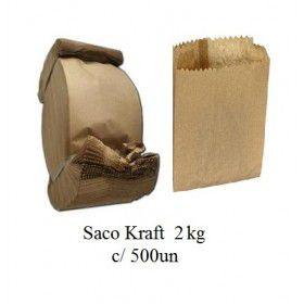 SACO PAPEL KRAFT 2kg (C/500un)