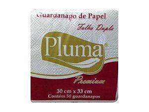 GUARDANAPO (PLUMA) PREMIUM F. DUPLA 33X33 G PCT C/50fls