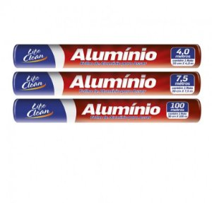 PAPEL ALUMINIO 45cm X 7,5mts (LIFE CLEAN)