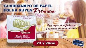 GUARDANAPO (PLUMA) PREMIUM F. DUPLA 23X24 P PCT C/50fls