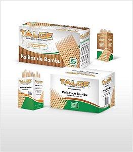 PALITO DENTE BAMBU SACHET PLASTICO (CX C/ 2000un) - TALGE