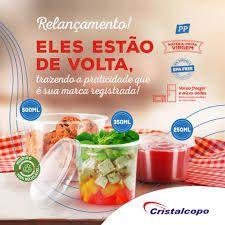POTE C/ TAMPA REDONDO (350ml) C/25un (CRISTALCOPO) (KP-350)