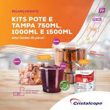 POTE C/ TAMPA REDONDO (1000ml) C/25un (CRISTALCOPO) (KP-1000)