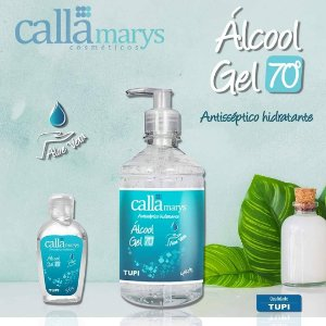 ALCOOL GEL ANTISSÉPTICO 70% (CALLAMARYS) 440g - TUPI
