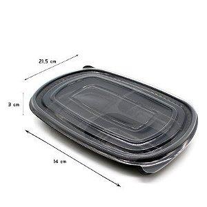 MARMITEX PLAST 3 DIV C/ TAMPA PP (PP-23 PRETO) (720ml) C/ 150un - (STARPACK)